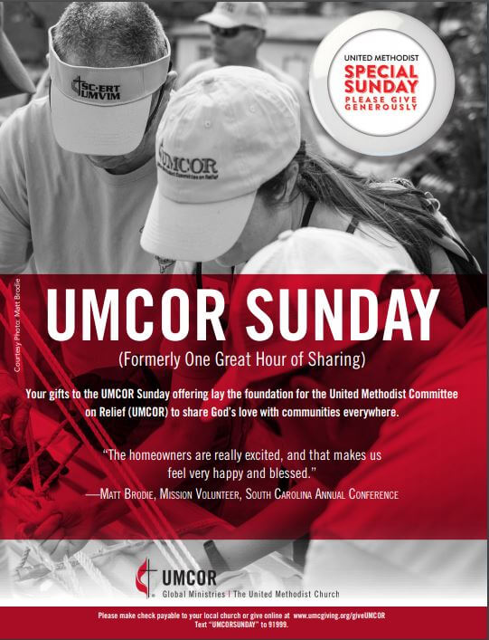 UMCOR Sunday: March 22