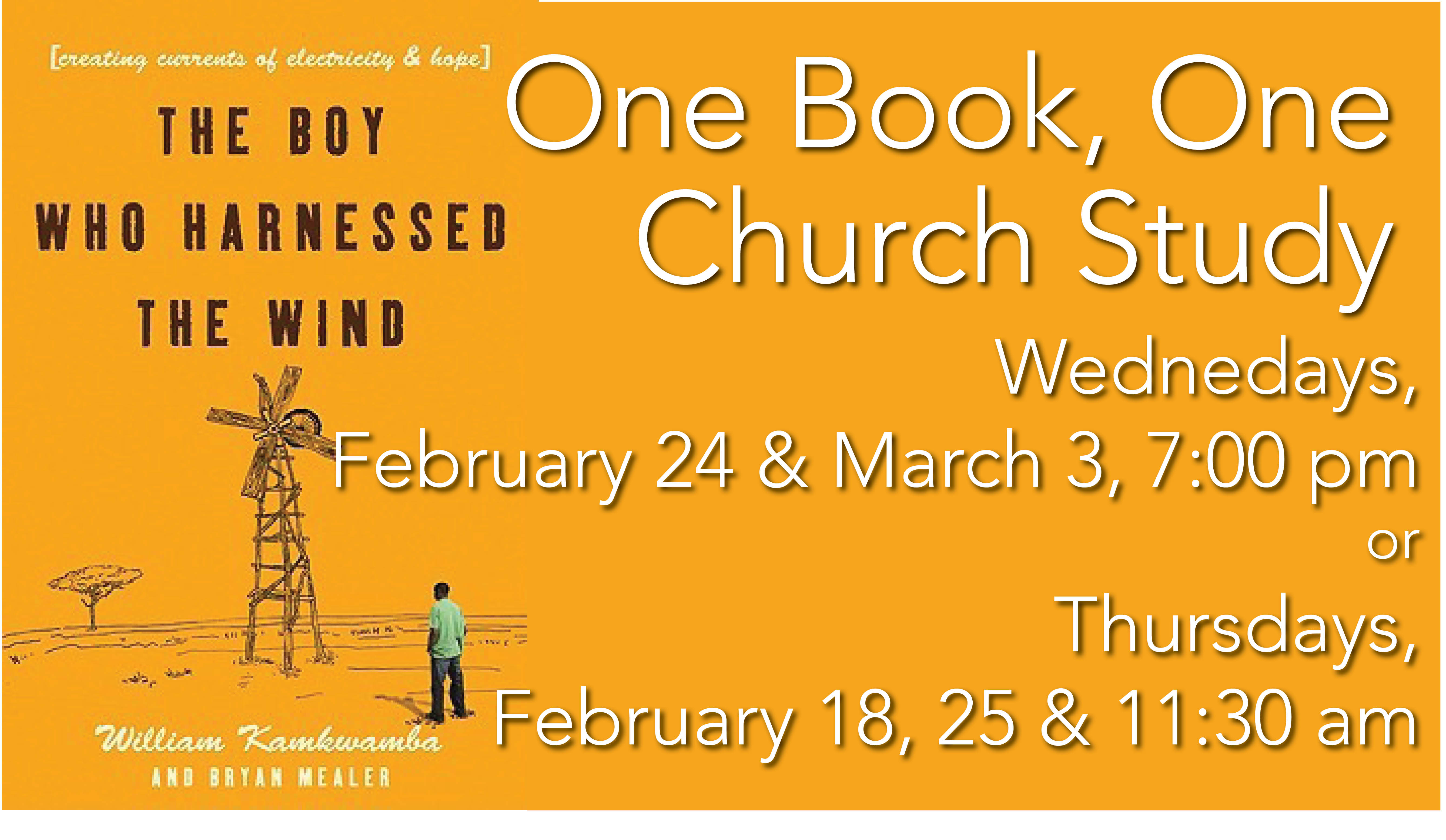 Announcement slide - one book one church