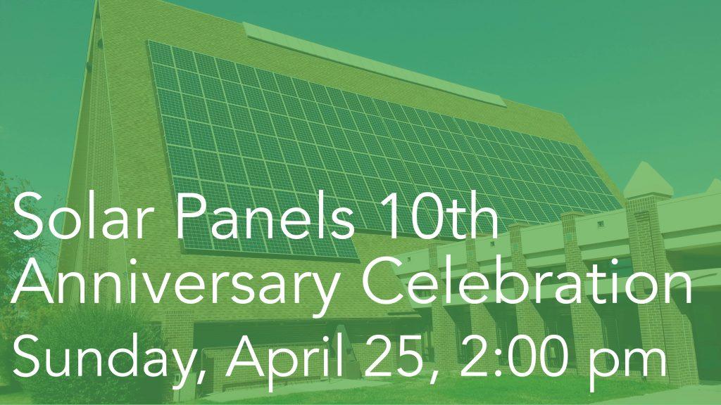 Announcement slide - Solar Panels