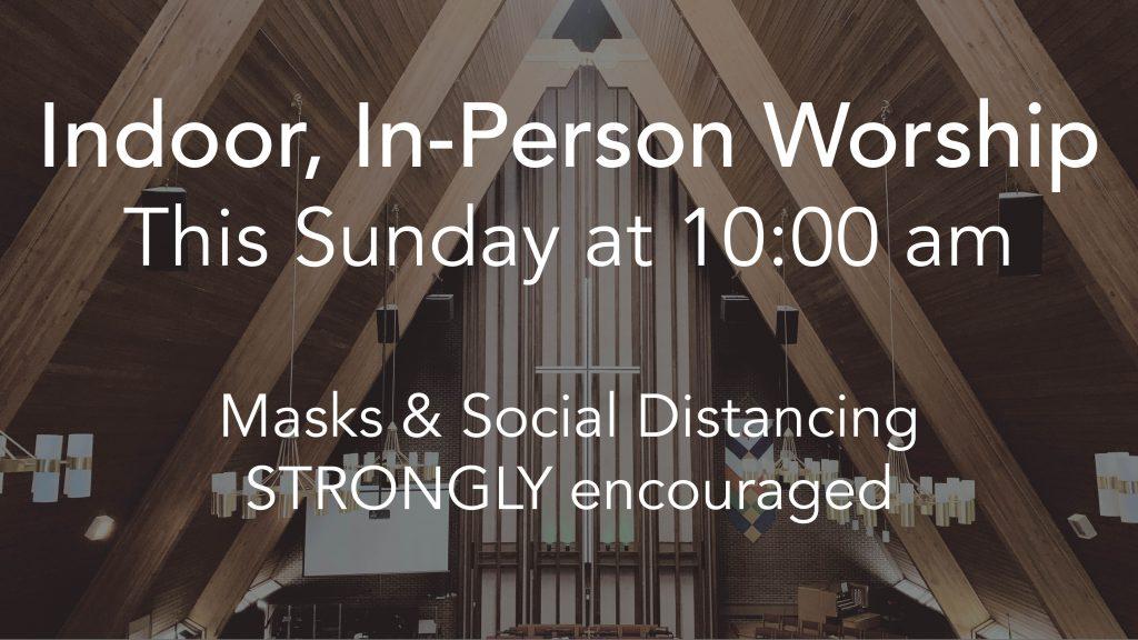 Announcement slide - indoor worship