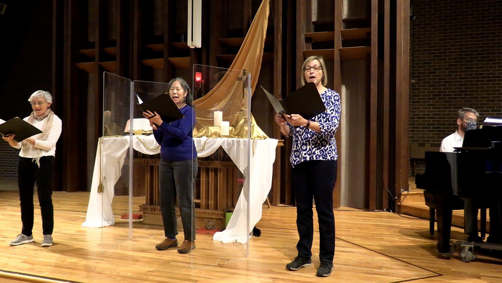 Chancel Choir is meeting in person again! Bell Choir is meeting in person again!