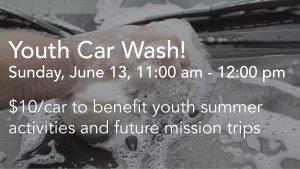 Announcement slide - car wash