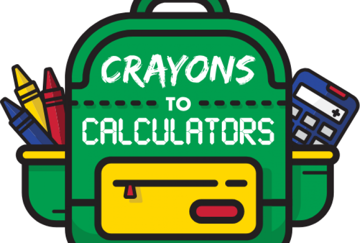 Crayons to Calculators Donations this Month